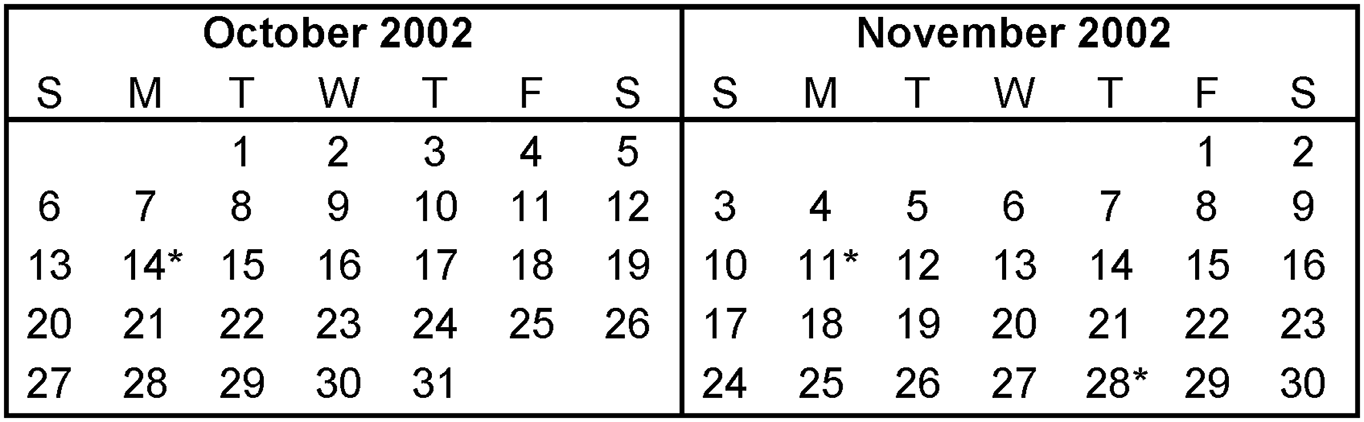 Calendar November 2016 UK Bank Holidays Excel PDF Word Templates