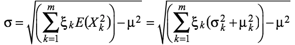 pdf of weighted sum of two uniform random variables